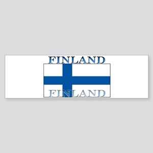 Finland Finish Flag Bumper Sticker