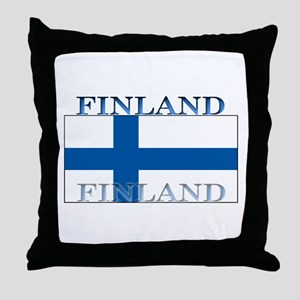 Finland Finish Flag Throw Pillow