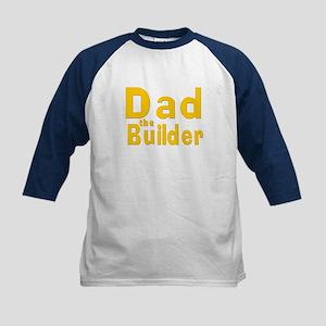 Dad the Builder Kids Baseball Jersey