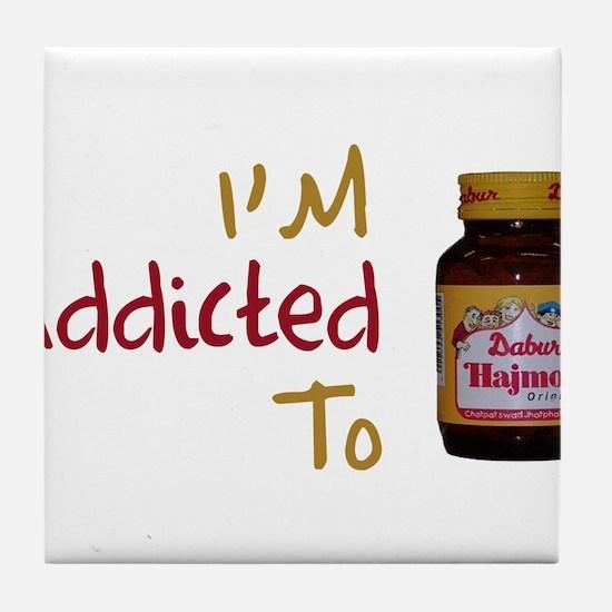 I'm Addicted to Hajmola Tile Coaster
