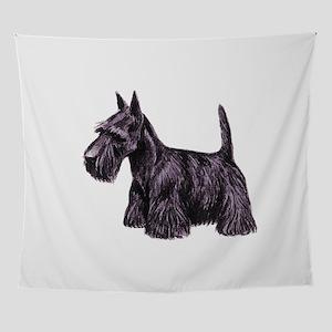 Scottie dog Wall Tapestry