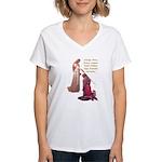 Nine Words Women's V-Neck T-Shirt