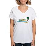 Beach Bum Women's V-Neck T-Shirt