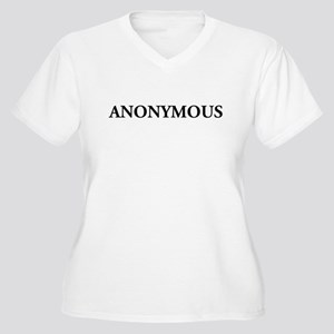 ANONYMOUS Women's Plus Size V-Neck T-Shirt