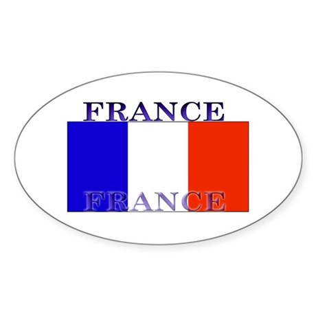 France French Flag Oval Sticker