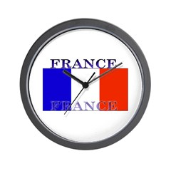 France French Flag Wall Clock
