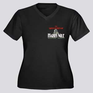Harry Nile Women's Plus Size V-Neck Dark T-Shirt