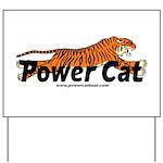 Power Cat Logo Yard Sign