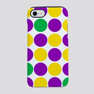 circles purple green gold iPhone 8/7 Tough Case