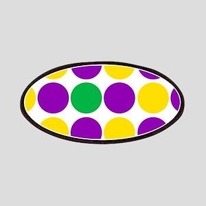 circles purple green gold Patch