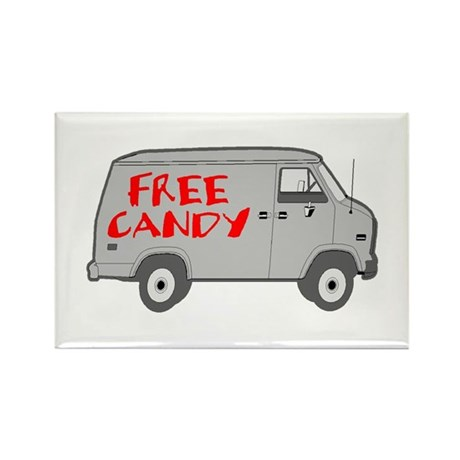 Free Candy Rectangle Magnet (100 pack)