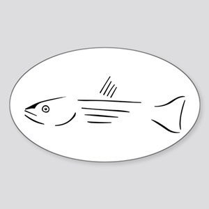 Striped Bass oval sticker