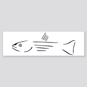 Striped Bass bumper sticker