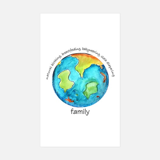 Earth Mama Rectangle Sticker 50 pk)