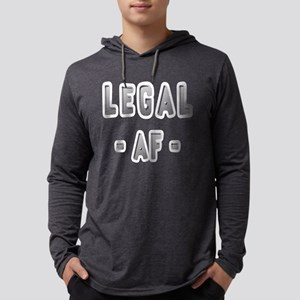 Legal AF Funny 21st Birthday Party T-Shirt Long Sl