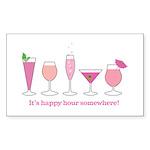 happy hour Rectangle Sticker 10 pk)