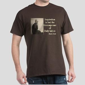 Maurice Ravel Inspiration and Labor Dark T-Shirt