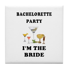 Brides Bachelorette Party Tile Coaster