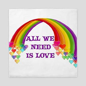 All We Need Is Love Queen Duvet