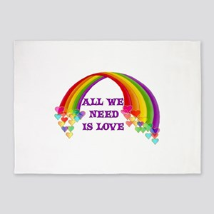 All We Need Is Love 5'x7'Area Rug