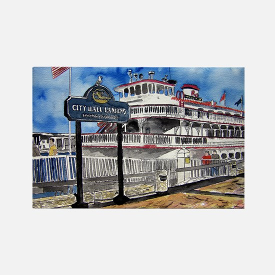 savannah queen river boat Geo Rectangle Magnet