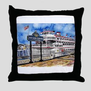 savannah queen river boat Geo Throw Pillow