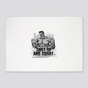 bodybuilder 5'x7'Area Rug