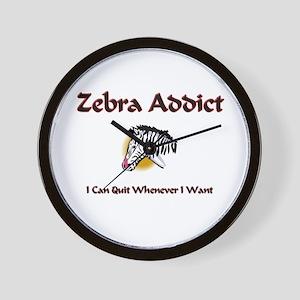 Zebra Addict Wall Clock