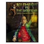Ben Franklin Vs The Wolfman Small Poster