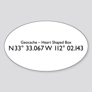 GEO Coordinance Oval Sticker