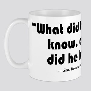 What and when Mug