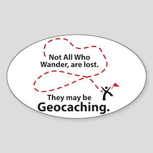 GEO Wander Oval Sticker