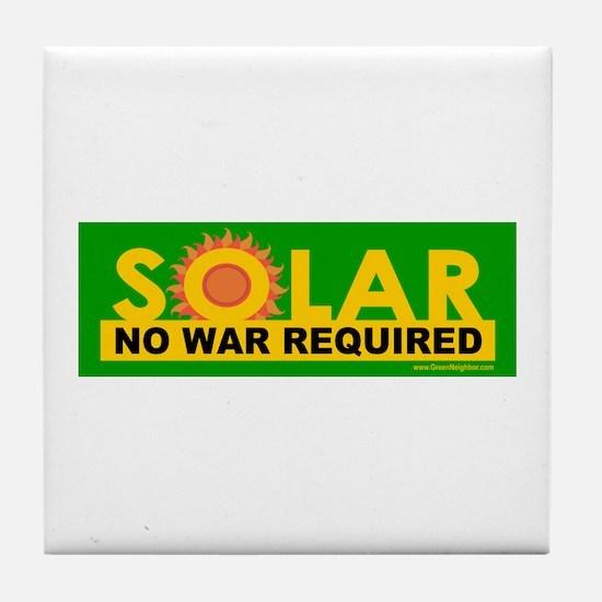 Solar ... Anti-War Tile Coaster