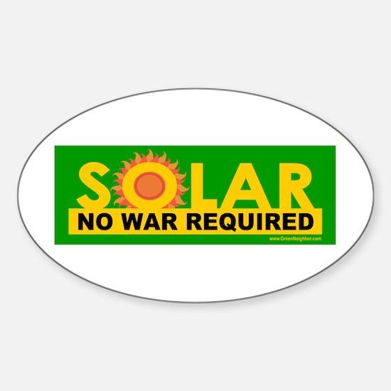 Solar ... Anti-War Oval Decal