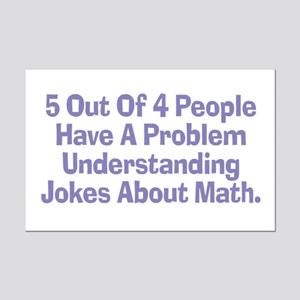 Math Jokes Mini Poster Print