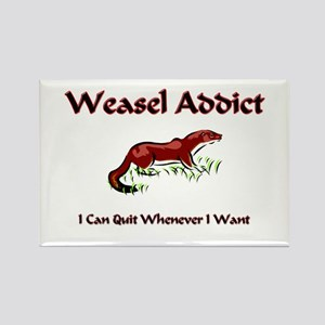 Weasel Addict Rectangle Magnet