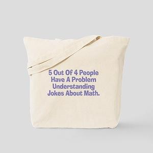 Math Jokes Tote Bag