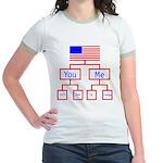 Let's Make A Change Jr. Ringer T-Shirt