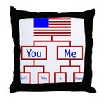 Let's Make A Change Throw Pillow