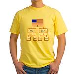 Let's Make A Change Yellow T-Shirt