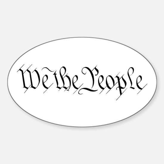 We the People Oval Decal
