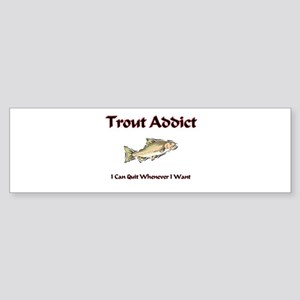 Trout Addict Bumper Sticker