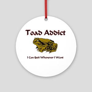Toad Addict Ornament (Round)