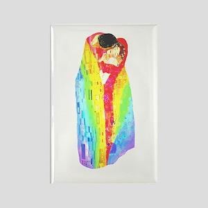 Klimt Pride Kiss Rectangle Magnet