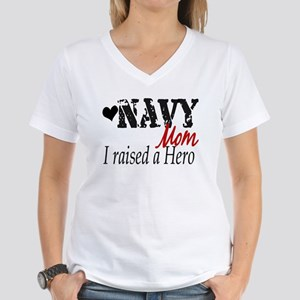 Navy Raised Hero Women's V-Neck T-Shirt