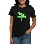 Crossroads: Rock and a Hard Women's Dark T-Shirt
