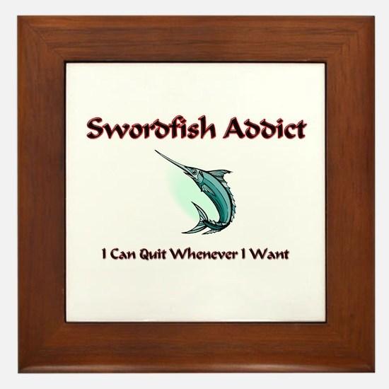 Swordfish Addict Framed Tile