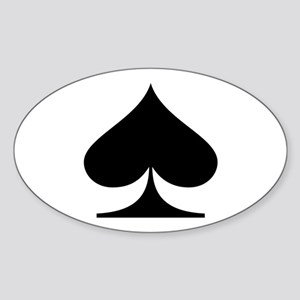 Spades! Oval Sticker
