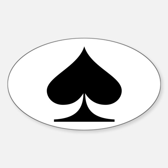 Spades! Oval Decal