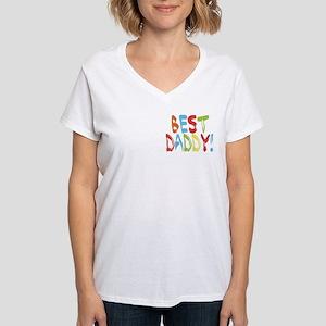 Best Daddy Women's V-Neck T-Shirt